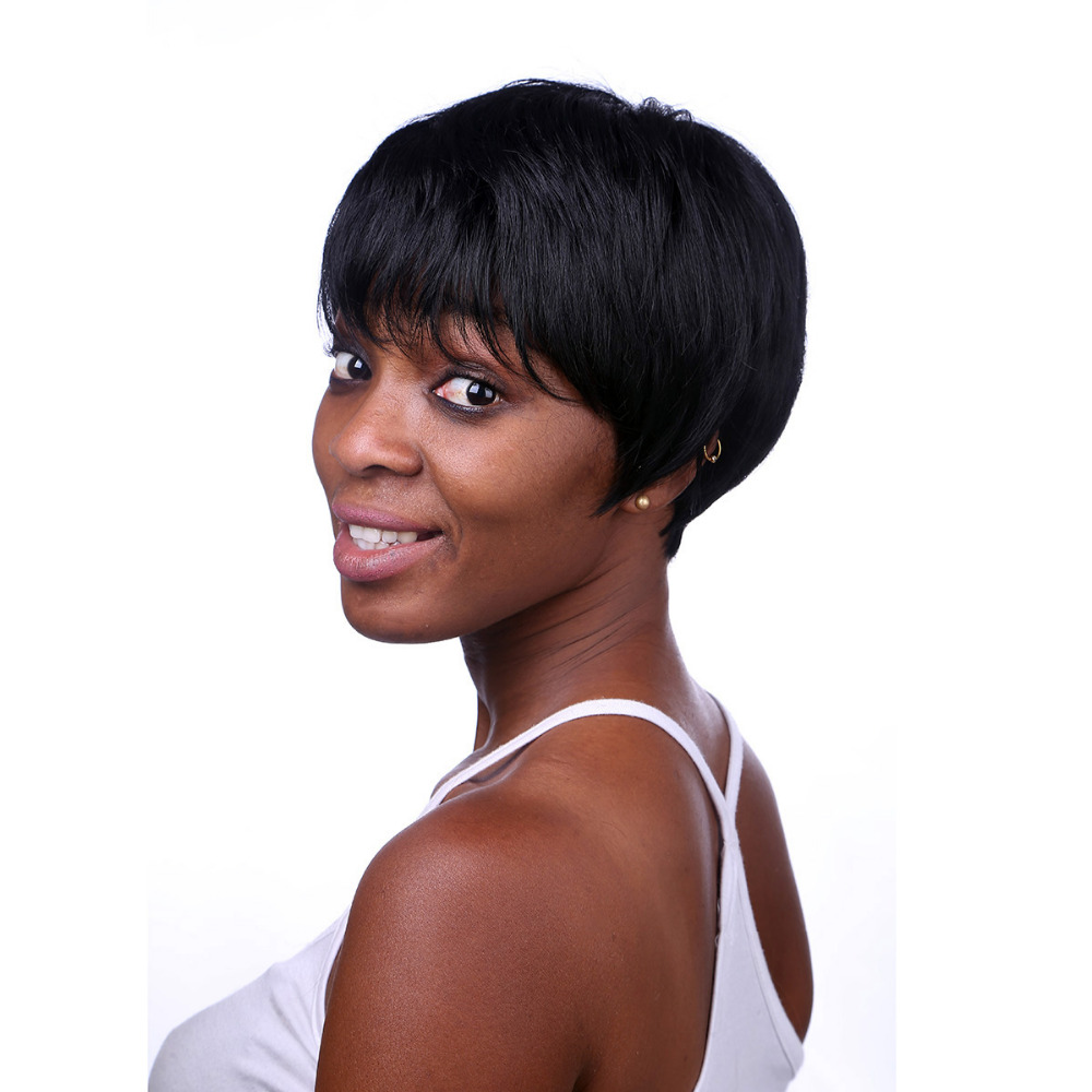 Aliexpress.com : Buy Rihanna Hairstyle Black Wig Short Pixie Cut Wigs For Black Women Short ...