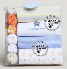 Новорожденный мальчик ползунки с коротким рукавом подарочной коробке 10 шт. набор
