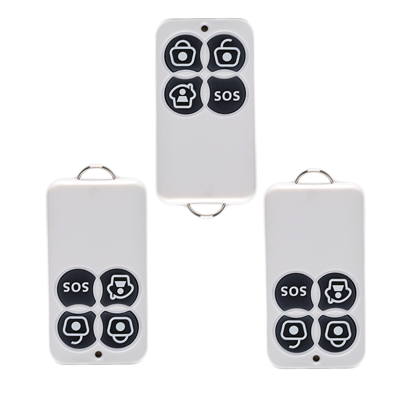 PSCBT 433MHz Wireless Remote Controller 4 buttons arm disarm sos for Home Security Alarm System 3pcs 7