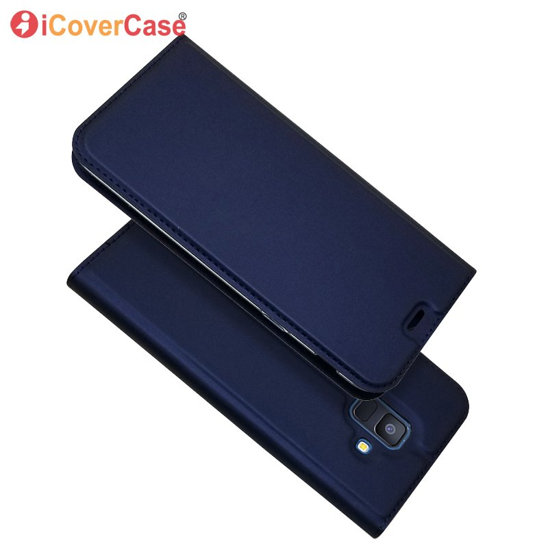 Magnet Case For Samsung Galaxy A6 A6+ A6 Plus 2018 Wallet Cover Flip Leather Mobile Phone Bag Book Card Slot Coque Etui Capinha