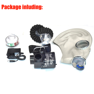 Image 5 - Supply Air Respirator Air Circulator Electric Military Gas Mask With No.3 Carbon 0.5M Tube Rechargeable Blower For Organic Gas