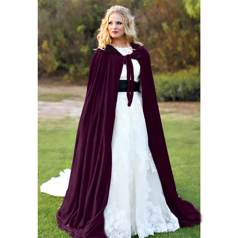 Halloween Vampire Robe Wizard Hooded Cloak Costume Medieval Witch Shawl Costume