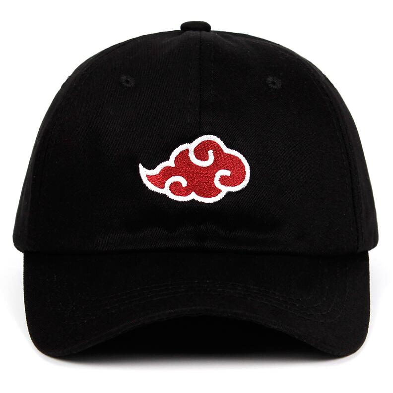 100/% Cotton Japanese Akatsuki Logo Anime Naruto Dad Hat Baseball Caps Black