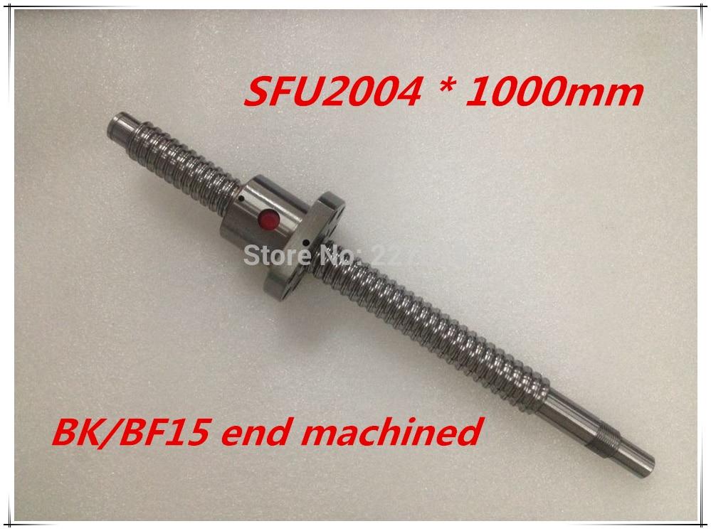 SFU2004 1000mm Ball Screw Set : 1 pc ball screw RM2004 1000mm+1pc SFU2004 ball nut cnc part standard end machined for BK/BF15 тор рагнарёк blu ray 3d 2d