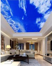 Blue sky and white clouds cosmic ceiling 3d room wallpaper landscape ceilings 3d mural wallpaper