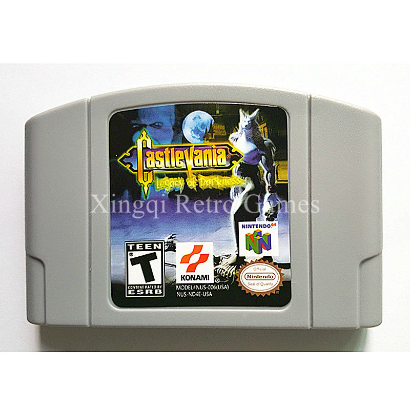Nintendo 64 Game Castlevania Legacy of Darkness Video Game Cartridge Console Card English Language US Version