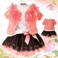 Anlencool venda quente promoções frete grátis versão coreana da nova primavera outono criança roupas terno da roupa do bebê girls dress