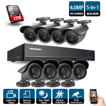 AHD 960P security camera system 8CH 1080P CCTV System HD SONY 2500TVL Bullet Outdoor Home Video Camera System Surveillance Kits