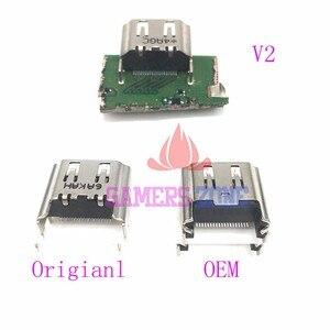 Image 1 - 10pcs ใหม่หรือ OEM V2 พอร์ต HDMI เชื่อมต่อซ็อกเก็ตสำหรับ Sony PlayStation 4 PS4