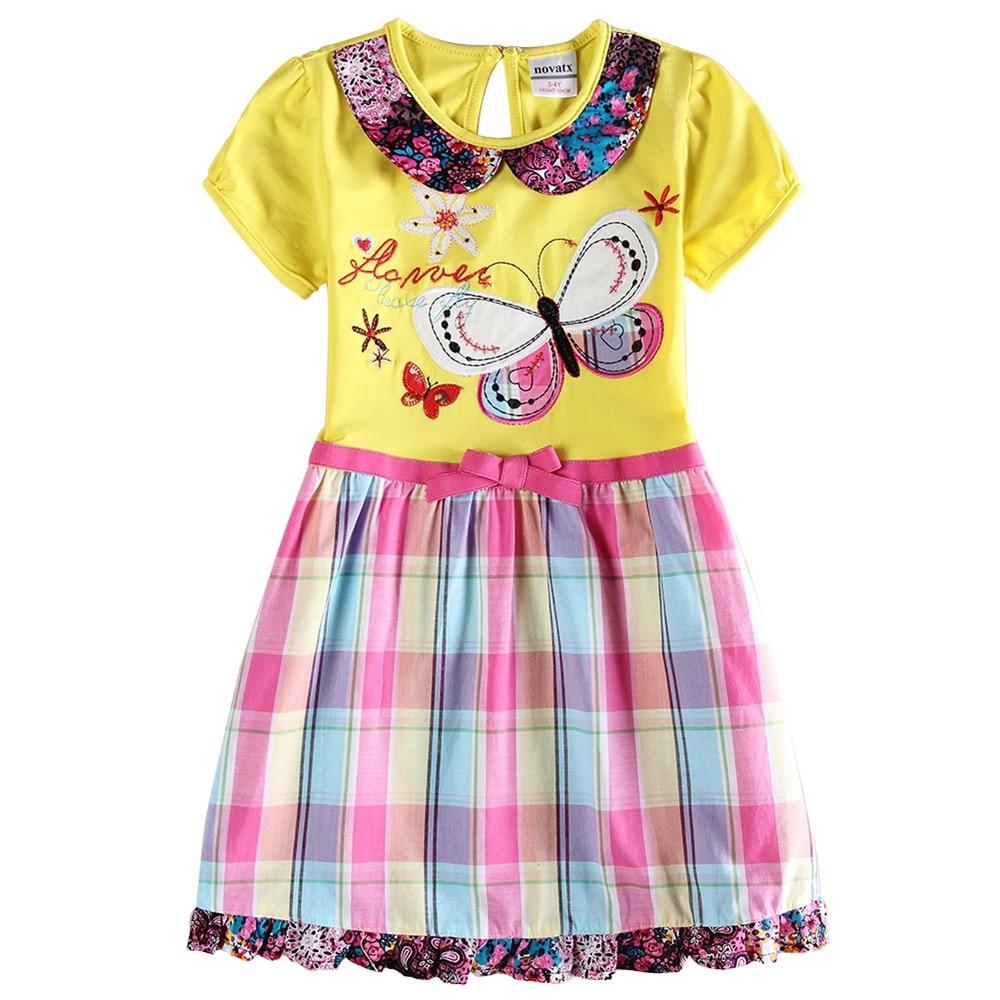 2019 Casual Summer Girls Dress Cotton Striped Floral Short Sleeve Kids Dress for Girls Toddler Girls Dress Pony Cartoon Vestidos in Dresses from Mother Kids
