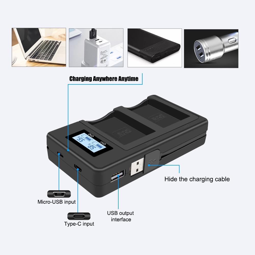 Image 4 - 2 шт. 1200 мА/ч, NP W126 NP W126 NPW126 Батарейки + LCD Dual charger для ЖК дисплея с подсветкой Fujifilm Fuji X Pro1 XPro1 X T1 XT1, HS30EXR HS33EXR X PRO1-in Цифровые аккумуляторы from Бытовая электроника