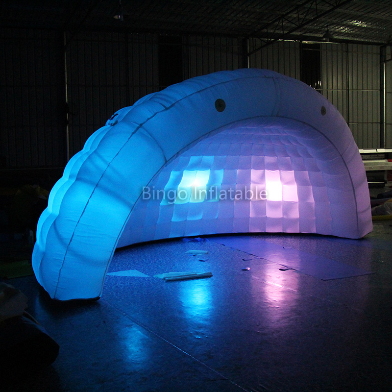 Wedding Party Event used Half inflatable Dome tent inflatable Cotton Play tent with Color changing LED Lights N Blower toy tent-in Toy Tents from Toys ... & Wedding Party Event used Half inflatable Dome tent inflatable ...