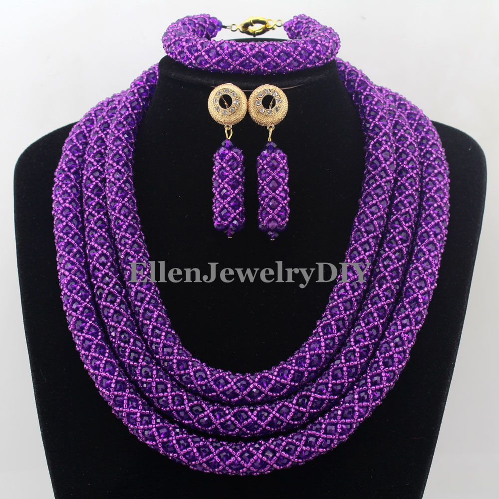 Nigerian Statement Necklace Wedding African Beads Jewelry Set Crystal Jewelry Set African Costume Jewelry Sets Beads W12655 чехол клип кейс samsung для samsung galaxy s10 leather cover красный ef vg975lregru