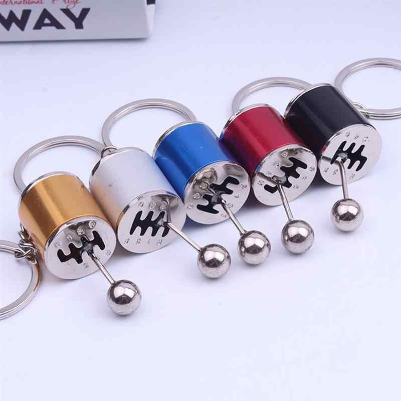 1Pc Car Gear Shaped Pendant Keyring Keychain For Handbag Phone Bag Pendant Ornaments Car Key Chain Decoration