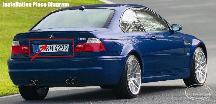BMW-E46-back-license-plate-lamp