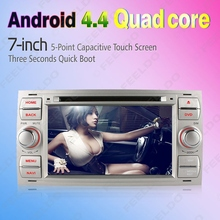 """7"""" inch Silver Panel Android 4.4.4 Quad Core Car DVD GPS Radio Head Unit For Ford Fusion(2006~2011) #CA4997A"""