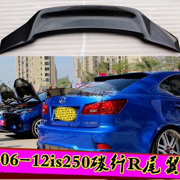 for Lexus IS200 IS250 IS350 IS300 AWD/IS200T 2014-2018 Carbon Fiber Rear Roof Spoiler Wing Trunk Lip Boot Cover Car Styling