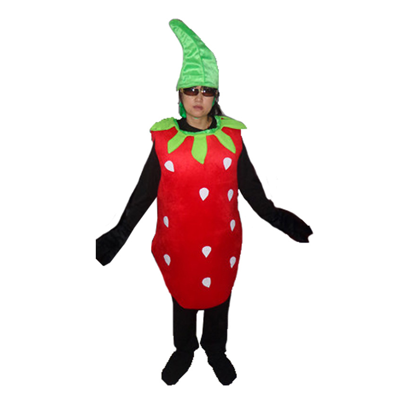 New Strawberry Costume Fruits and Vegetables Cosplay Costumes Apple Grapes Watermelon Peppers Funny Clothes for Carnival Party