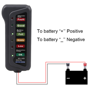Image 5 - 12V 24V Battery Tester Test Battery Condition and Alternator Charging Diagnostic Tool for Cars Motorcycle Battery