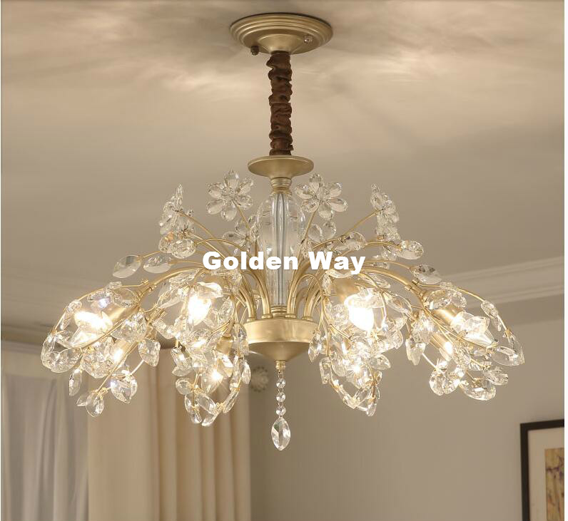 цена на Free Shipping Vanity Modern Crystal Chandelier Lighting Fixture Luxury Modern LED Ceiling Lamp for Dining Room Restaurant Lights