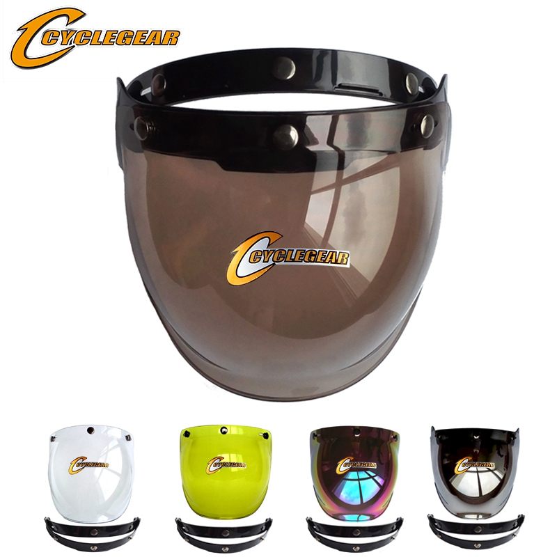 Motorcycle Helmet Visor Shield Flip Up Bubble Visor For Open Face Helmets Retro Harley Capacetes Glasses Moto Casco Lens BV01