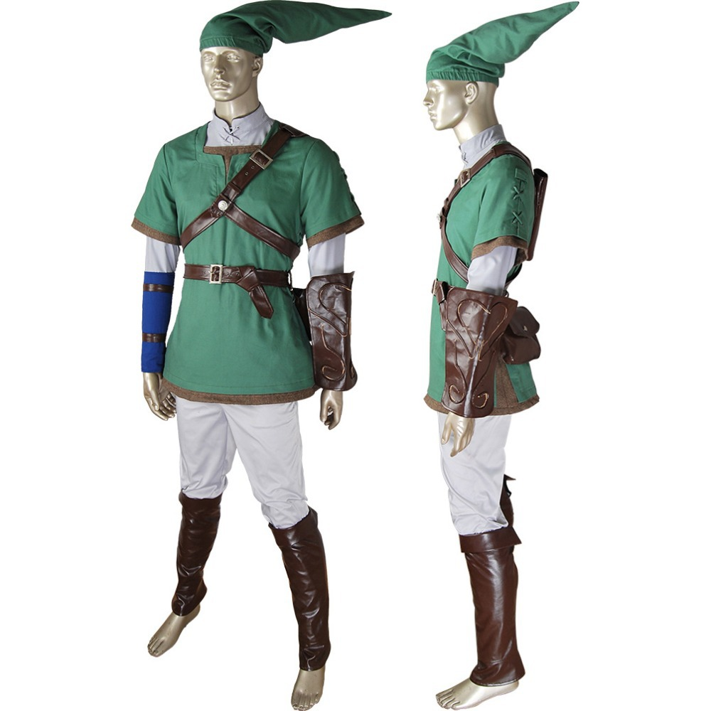 The Legend of Zelda Link Outfit Cosplay Twilight Dawn Halloween Costume Christmas Xmas Gift Women