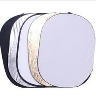 Free Shipping 90 120CM 5 IN 1 Disc OVAL Multi Collapsible Light Reflector