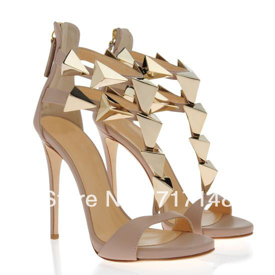 2013 New heels Black suede sandals inside platform pyramid shaped ...