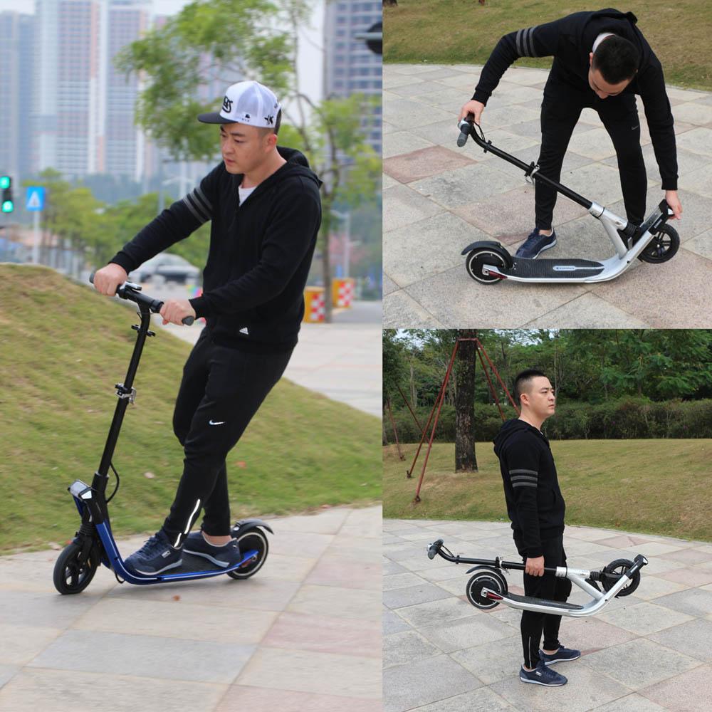 Adulte freestyle pliable elektrik électro électrique coup de pied e scooter 8 pouces hoverboard