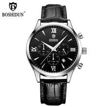 Мода Хронограф Повседневная Часы Мужчины Luxury Brand Кварцевые Военные Спортивные Часы Из Натуральной Кожи мужские Наручные Часы relogio мужской