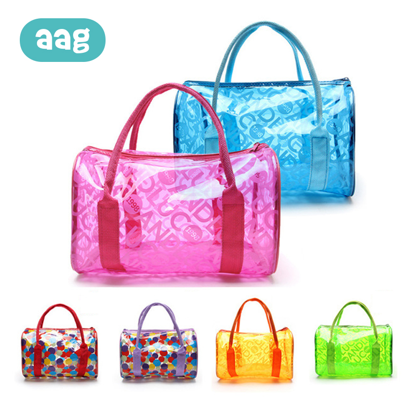 AAG Waterproof Mom Baby Beach Bags Children's Toys Storage Beach Swimming Bags Travel Fitness Wash Bag Beach Jelly Handbag *