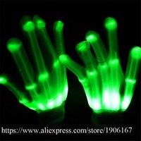 Creative LED אור כפפות זוהרת מהבהב כפפות תאורת אצבע כפפות זוהרות Led ספקי צד אירוע חגיגי אבזרי במה
