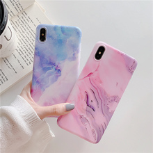 Purple star marble phone case for iPhone XR XS Max X 8 7 Plus 6 6S fantastic stone glossy silicon soft pink back cover hull
