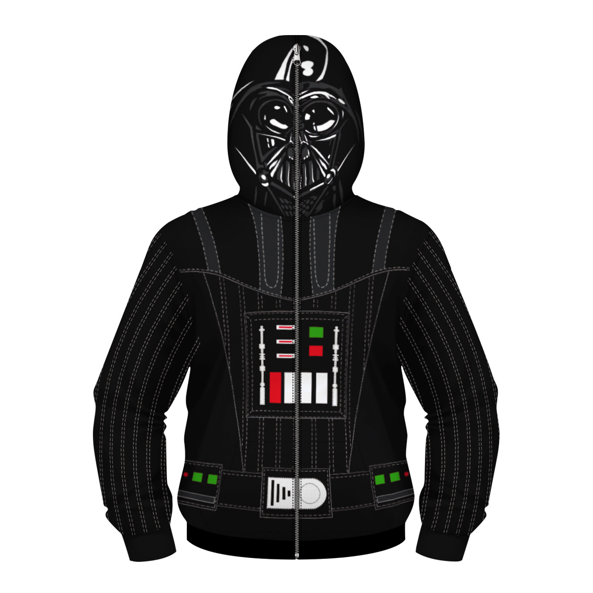 New arrival STAR WAR Dark Lord Darth Vader Carnival Costume Kid Cosplay Zipper Jacket Movie Halloween Cosplay Costume Plus Size