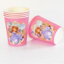 10 шт./партия София предметы для вечеринки принцессы бумажная чашка мультфильм день рождения для украшения детского душа для детей девочек мальчиков