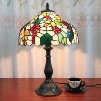12 дюймов винограда настольной лампы Европейский Стиль Тиффани гостиная исследование спальня столовая Бар отеля