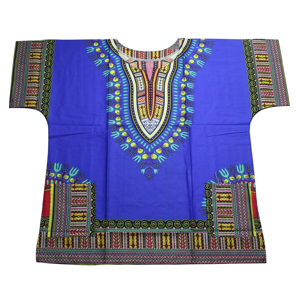 Unisex Cotton Dashiki Unisex Mens Women African T-Shirt Top Traditional Tribal Ethnic Succunct Hippie Top