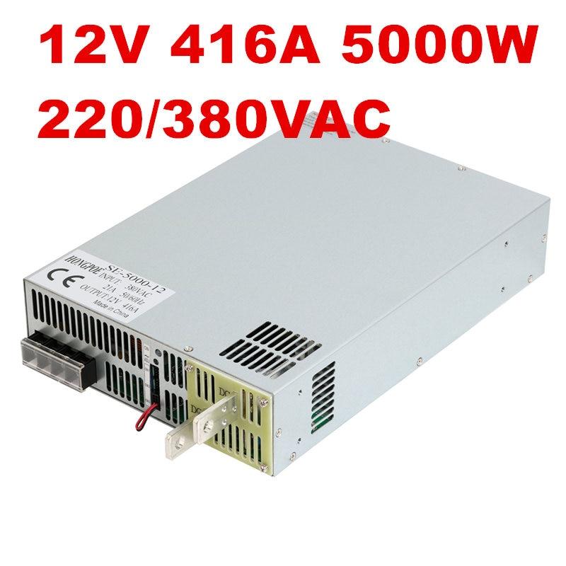 380VAC 5000W 12V DC0-12V power supply 12V 416A AC-DC High-Power PSU 0-5V analog signal control SE-5000-12 DC12V Power se 1500 12 12v power supply 12v 1500w dc 0 12v power supply 12v 125a ac dc high power psu 0 5v analog signal control