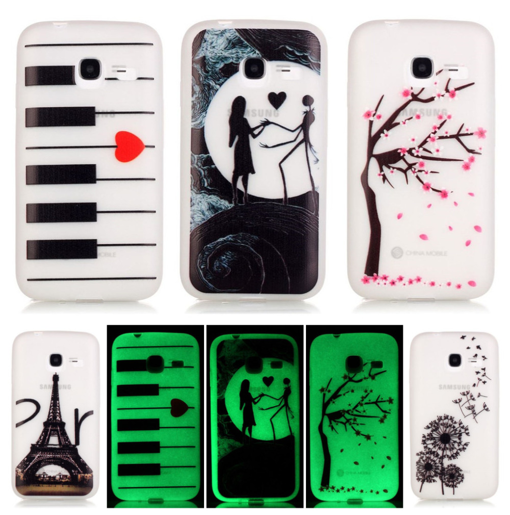 Deevolpo Fluorescent Noctilucent Bags Cases For Samsung Galaxy J1 Mini Sm J105f Black J105 J105h Tpu Gel Soft Phone Cover Shell D16i