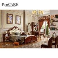 Античная Мебель для спальни классический деревянный King Размеры Best кровать конструкции 6012