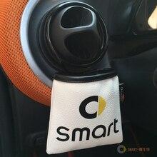 Из искусственной кожи автомобиля открытый мусорный ящик автомобиля сумка для хранения мобильных телефонов держатель телефона ель для smart 451 smart 453 fortwo forfour