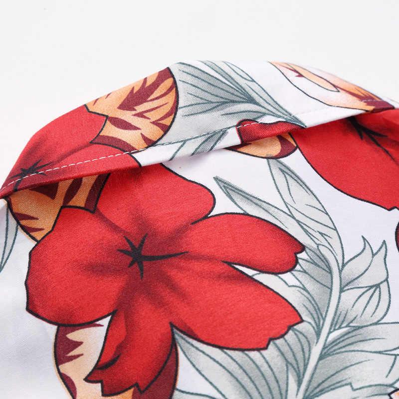 M-7XL плюс размер мужские s с коротким рукавом Гавайские рубашки повседневные мужские высококачественные цветочные рубашки летние мужские модные обычные рубашки