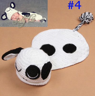cow American Boy Girls Pro Photography Summer Style Handmade Knitted Newborn Infant Clothing Clothes Baby Set