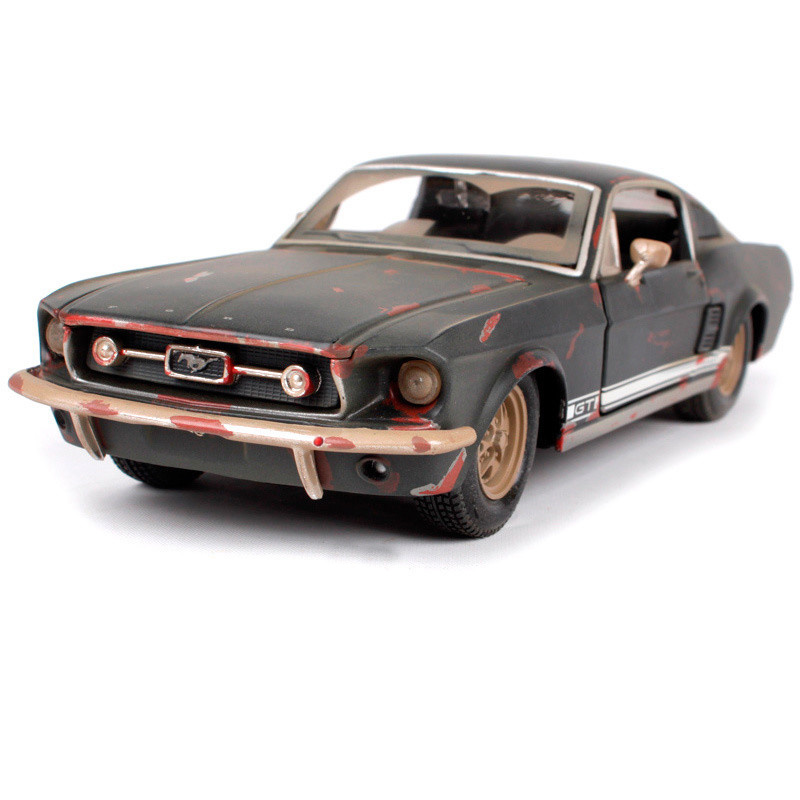 <font><b>1:24</b></font> 1967 <font><b>Ford</b></font> <font><b>Mustang</b></font> GT The Old Version Alloy Car Model Diecast Metal Car for Kids Gift Toys image