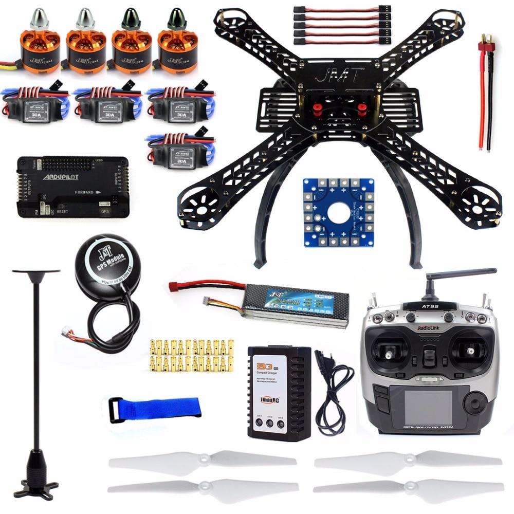 Bricolage RC Drone Quadrocopter X4M380L 380mm Kit de cadre d'empattement APM 2.8 GPS AT9S émetteur 30A sans balai ESC moteur quadrirotor