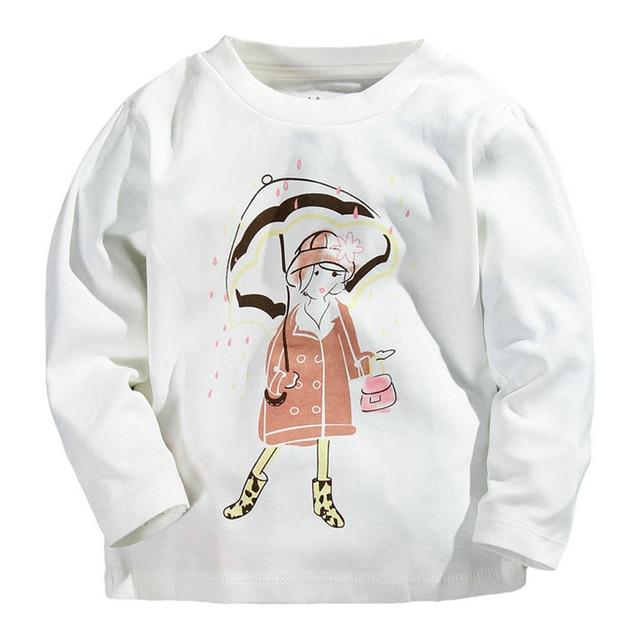 da4cbc5f New Autumn Winter Design Children Clothes Kids Tops Baby Girls T Shirt  Spring New Tees Cartoon Girl Long Sleeve T Shirts
