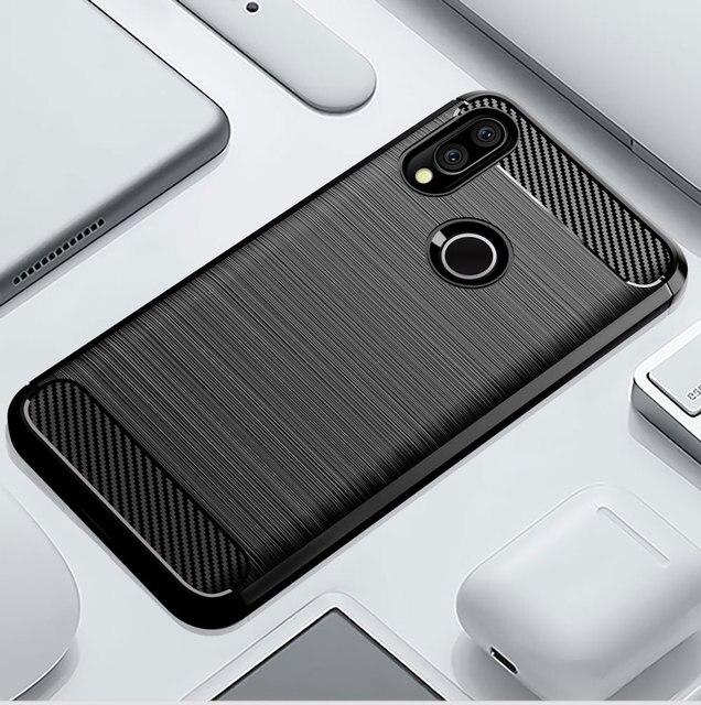 Silicone cassa Del Telefono Per Xiaomi Redmi S2 y2 Y3 In Fibra di Carbonio Antiurto TPU Della Copertura Posteriore Xiomi RedmiS2 Redmiy2 Redmiy3 Y 3 S 2 Custodie