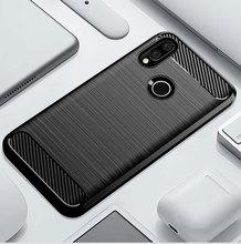 คาร์บอนไฟเบอร์ซิลิโคนโทรศัพท์กรณีสำหรับ Xiaomi Redmi S2 y2 Y3 เส้นใยกันกระแทก TPU ปกหลัง Xiaomi RedmiS2 Redmiy2 Redmiy3 Y 3 S 2 กรณี