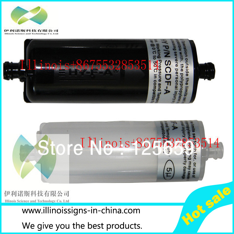 ФОТО 10pcs infinity/myjet/allwin brand printer solvent ink filte long UV Ink filter For UV Ink Inkjet printer UV ink strainer