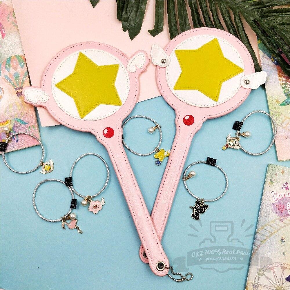 Limited Gift Cardcaptor Sakura Magic Wand Pu Card Case Bus Card Holder Pink Super Star Kawai hairband Gift Creative Anime Toy